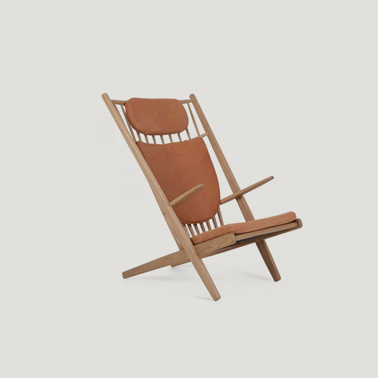 Goliat chair with cognac leather