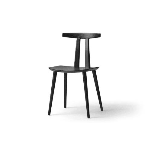 J111 - Dining chair - Oak black lacquer