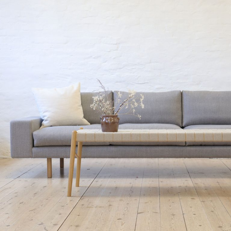 sofa and bench in oak