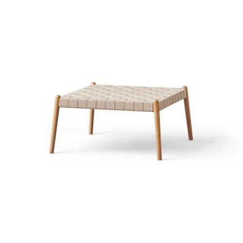 Design bench with strap, puff