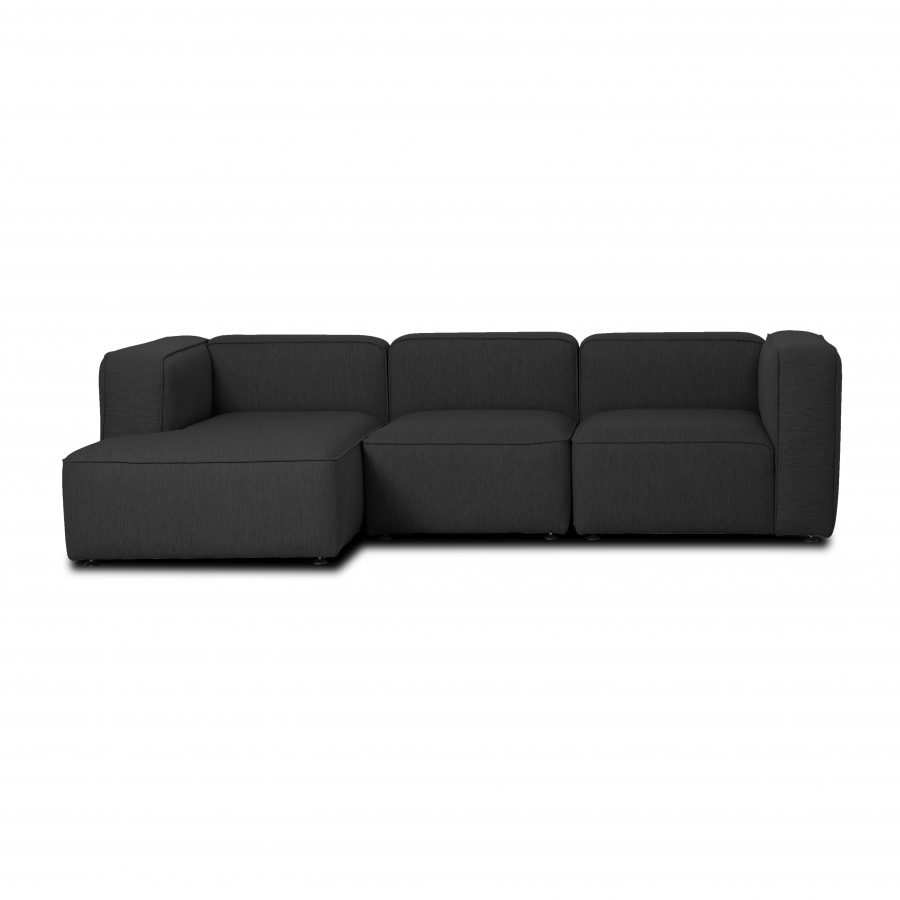 Design sofa, 3 person with chaise longue