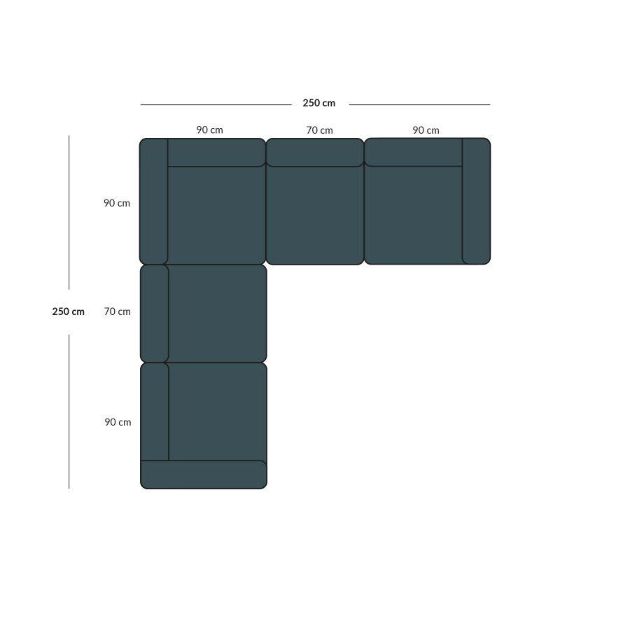 corner sofa with modules
