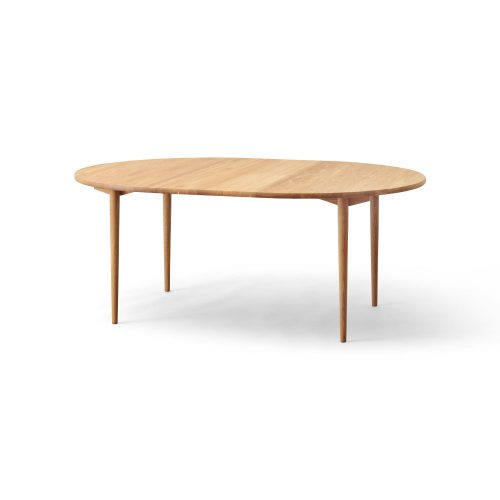 round dining table, oak natural oil