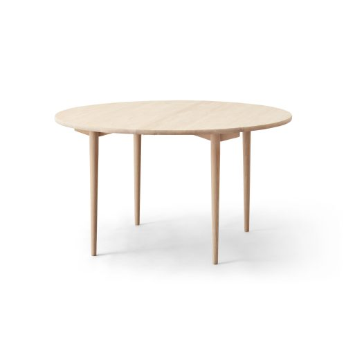 round dining table, oak white oil
