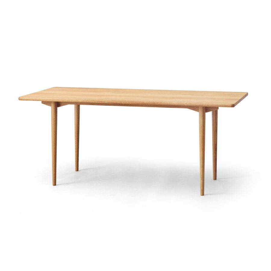 round dining table, oak white oil, additional plates
