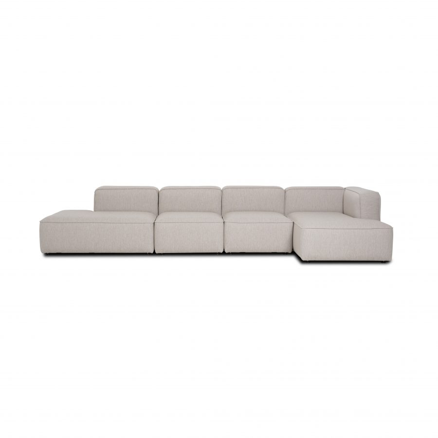 Large open end withe chaise lounge
