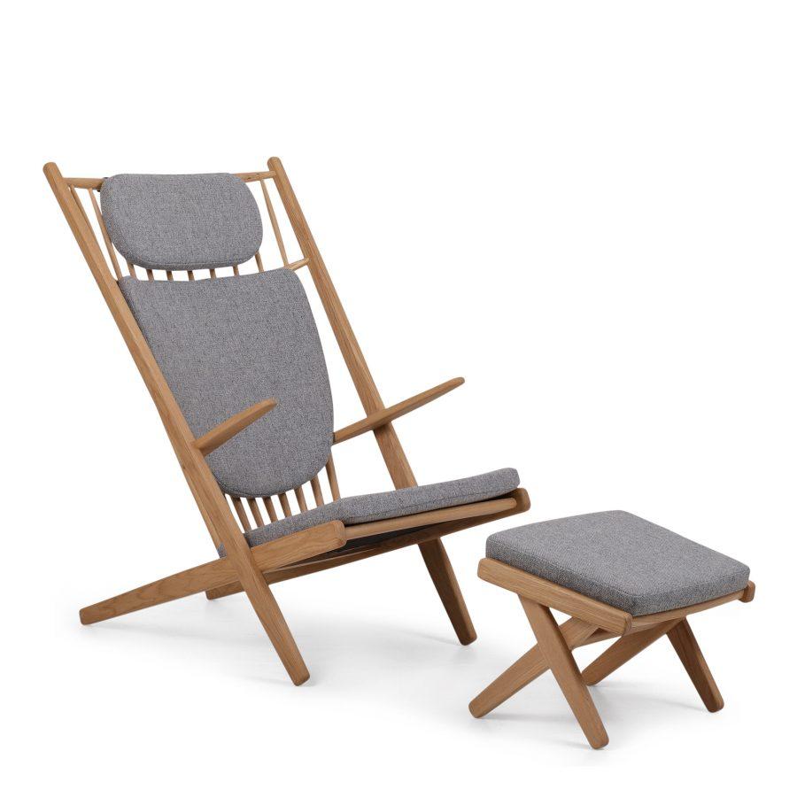 goliat armchair oak mat lacquer hallingdal