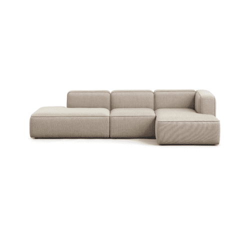 BASECAMP Open end - right, 3 modules - Re-wool Beige no. 218