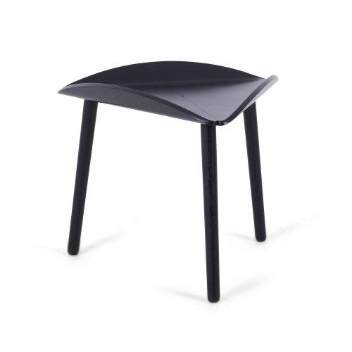 Design coffee table, oak black lacquer