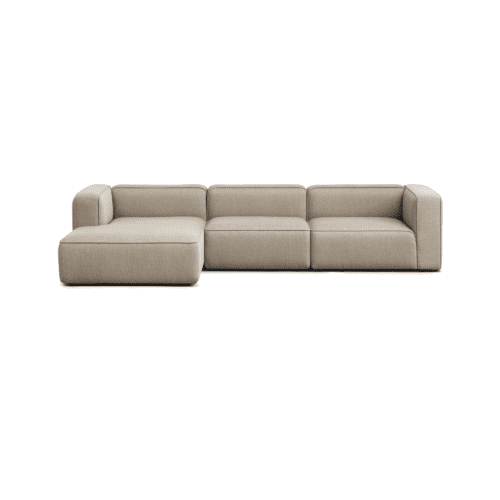 BASECAMP XL Chaiselounge - left, 3 modules - Re-wool Beige no. 218