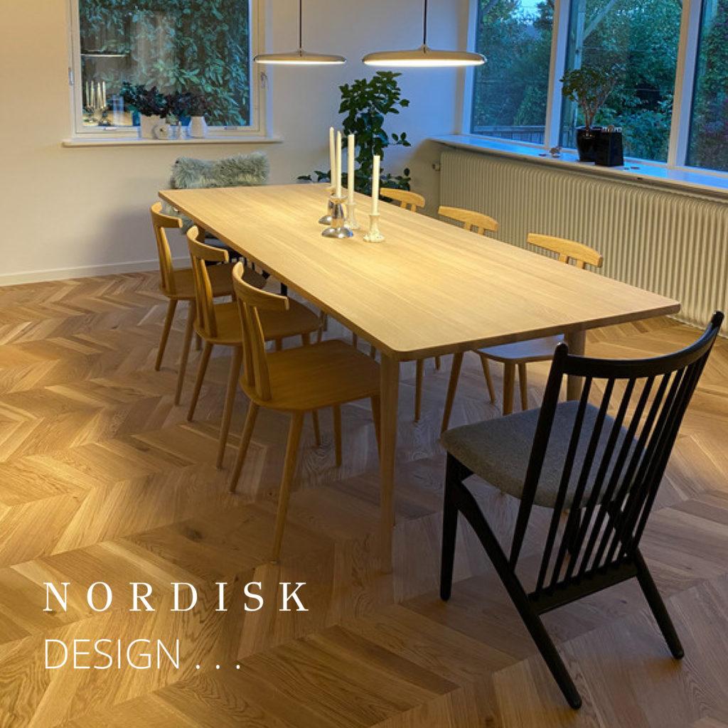 Holmen spisebord og spisebordsstole fra tv-programmet Boligkøb i Blinde