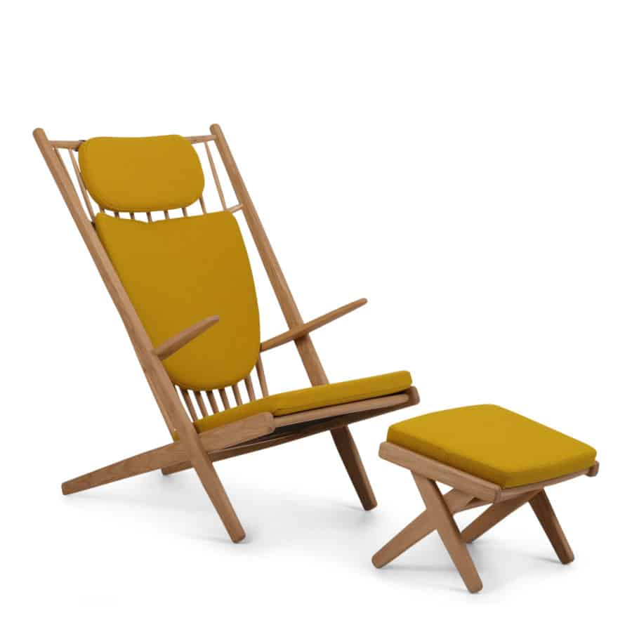GOLIAT - Armchair with stool