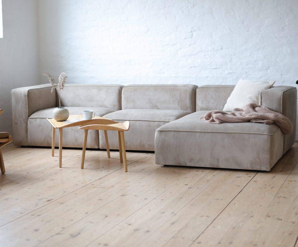 make nordic XL velvet sofa